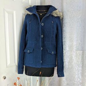 🆕 Aeropostale Navy winter jacket Sz L